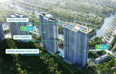 Tổng thể khu chung cư căn hộ Ecopark Sky Oasis